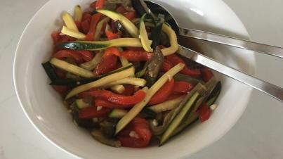Marinated roasted vegetables