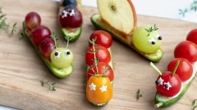 Mini cucumber caterpillars