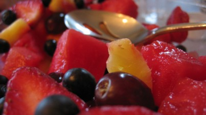 Aliño sofisticado para ensalada de fruta