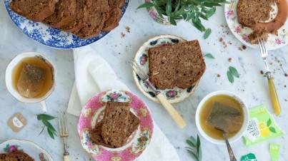 Gezonde cake met meloen en koekkruiden