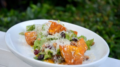 Pumpkin and cranberry salad