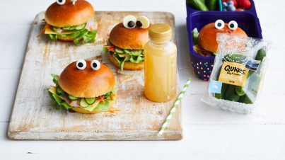 Lunch box Qukes®, ham and salad monster rolls