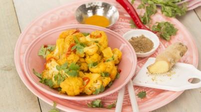 Chou-fleur aux épices indiennes