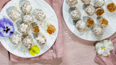 Wortel-dadel truffels (bliss balls)