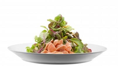 Salade de saumon confit en trois étapes