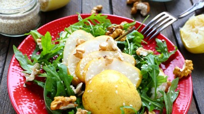 Walnut, pear and parmesan salad