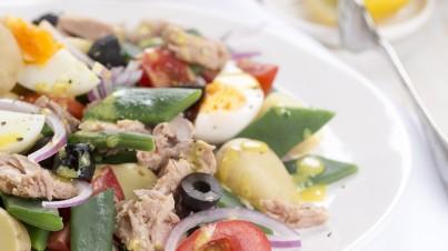 Salade Niçoise met snijbonen
