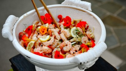 Salade chinoise aux fruits de mer