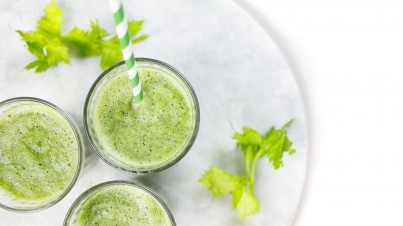 Apple, celery and cucumber smoothie