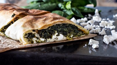 Spanakopita or Greek spinach pie