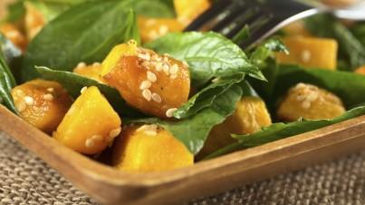 Salade courge & épinard