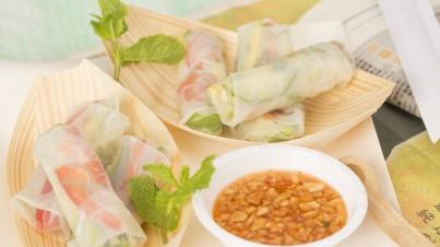 Vegetarian rice paper springrolls