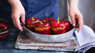 Stuffed capsicums with couscous