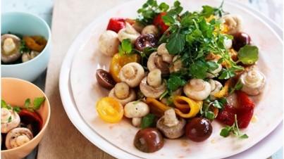 Summer mushroom salad