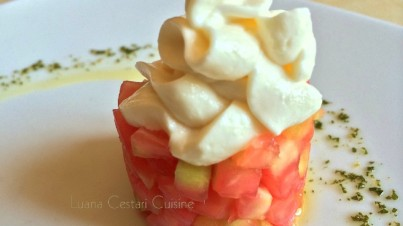 Tartare di pomodoro con maionese vegetale