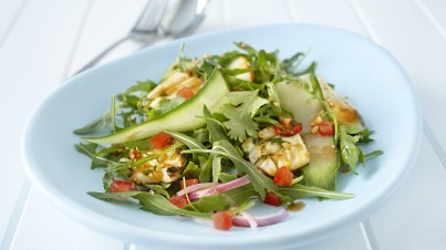 Grilled squid with Thai wild rocket salad