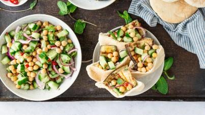 Veggie pitta sandwiches