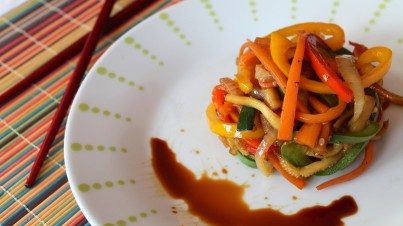 Verduras salteadas con salsa de soja