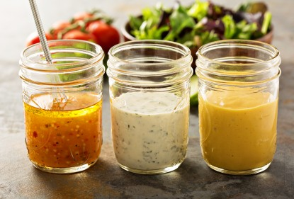 Here's six good reasons to make your own salad dressing and an easy 4-ingredient salad dressing recipe from Catherine Saxelby.