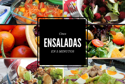 5 ensaladas en menos de 5 minutos