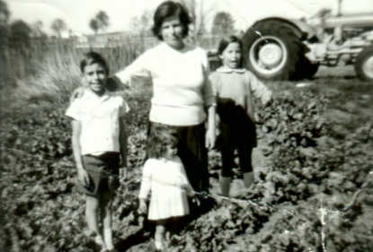 Frances Tolson grew up on her family's vegetable farm