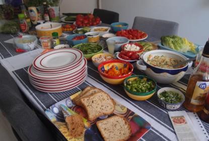 salad bar, middle eastern salads, gluten free vegetarian salads