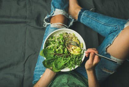 Learn the four easy steps to create a tasty green salad, Love My Salad