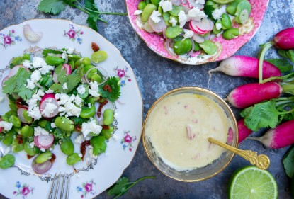 3x salade met tuinbonen