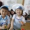 Love kids, Love salad--- Love my salad in the kindergarten
