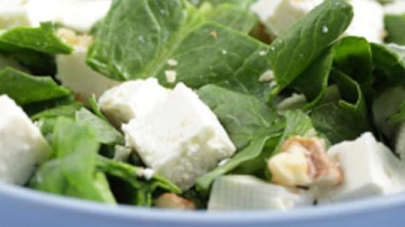 Ispanak ve Beyaz Peynir Salatası