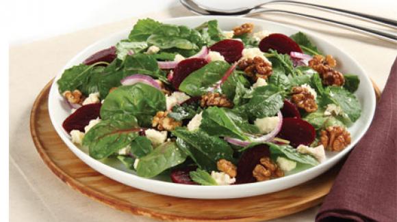 Wintersalat mit gebackener Roter Bete und Feta