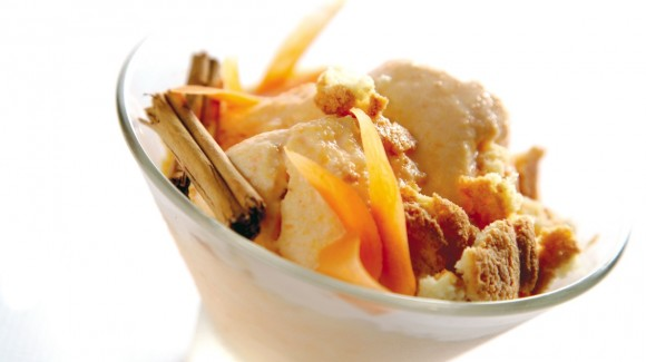Glace Fiordilatte aux carottes, amaretti et cannelle