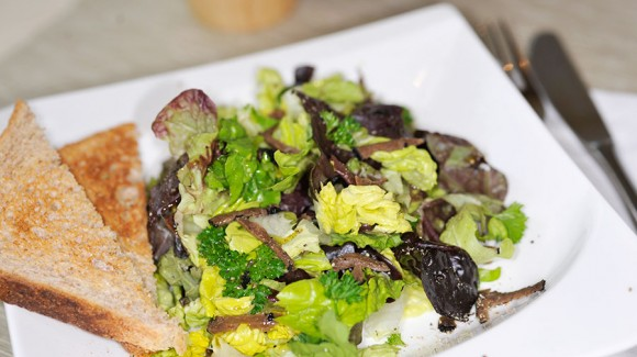 French butter lettuce salad with Mont Ventoux truffles