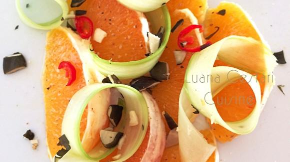 Arance piccanti con sedano e semi di zucca