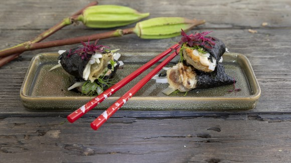 Japanische Auberginen-Sushi