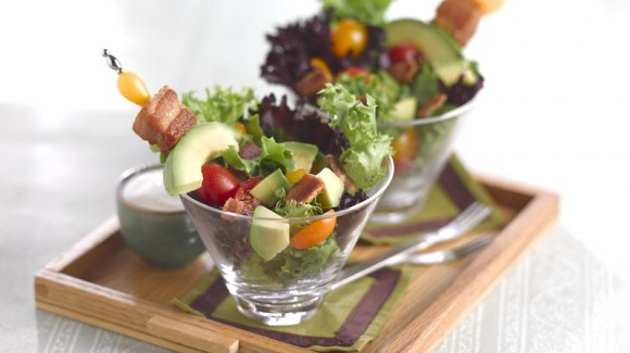 BLT salade met Ranch dressing