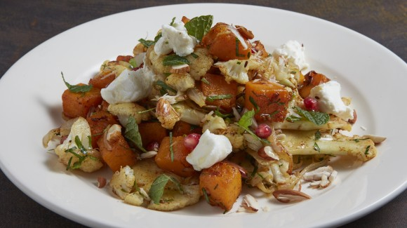 Butternut pumpkin and cauliflower salad