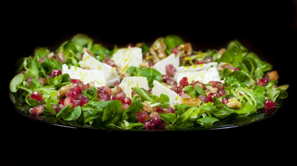 Lamb's lettuce and pomegranate salad
