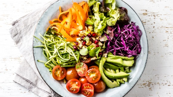 Colourful salad bowl