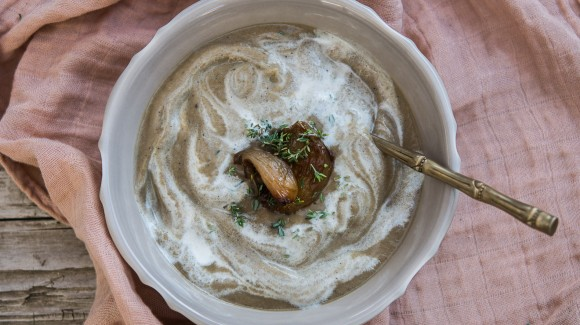 Crema de cebolla asada