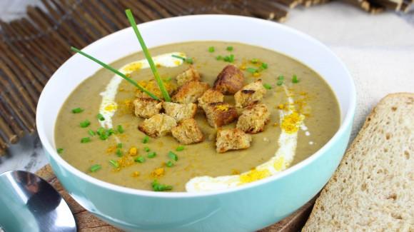 Crema de lentejas y zanahorias con curry y comino