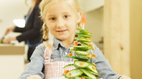 Homemade edible Christmas tree