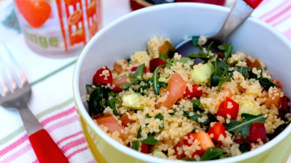 Couscous and fresh rocket salad