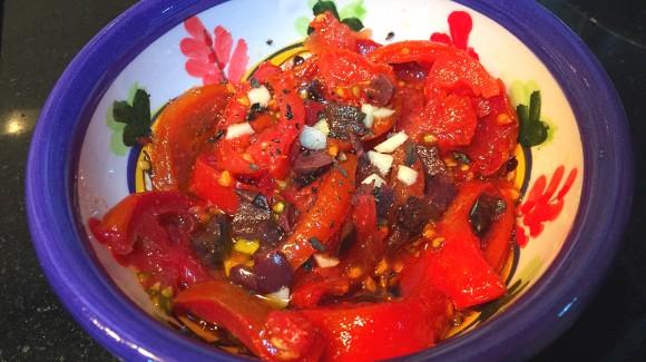 Ensalada mediterránea de tomate