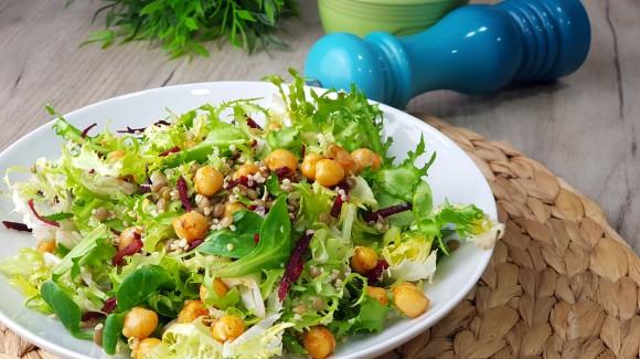 Ensalada de legumbres y quinoa