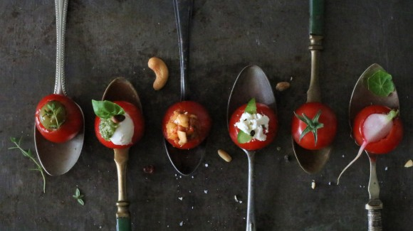 Verjaardagshapjes: 5x gevulde tomaten