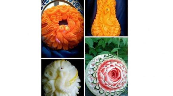 L'arte del Kae Sa Luk ovvero l'arte thailandese della scultura su frutta e verdura