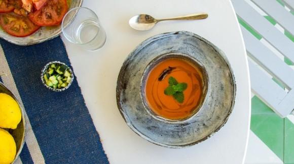 Gazpacho (kalte, spanische Gemüsesuppe)