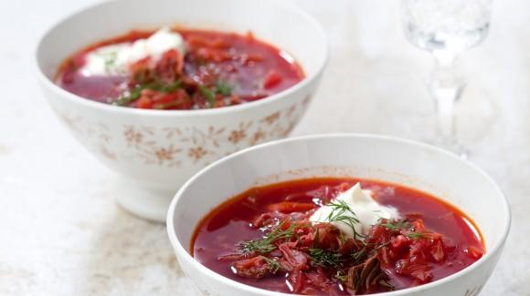 Mary's Gazpacho soep met Griekse yoghurt