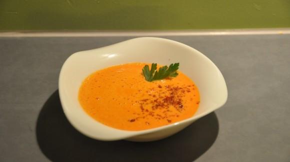 Sabrosa sopa de pimiento
